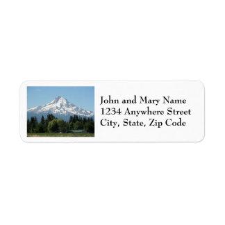 Etiquetas de endereço do remetente da capa da