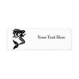 Etiquetas de endereço do remetente da sereia etiqueta endereço de retorno