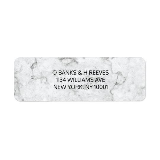 Etiquetas de endereço do remetente de mármore