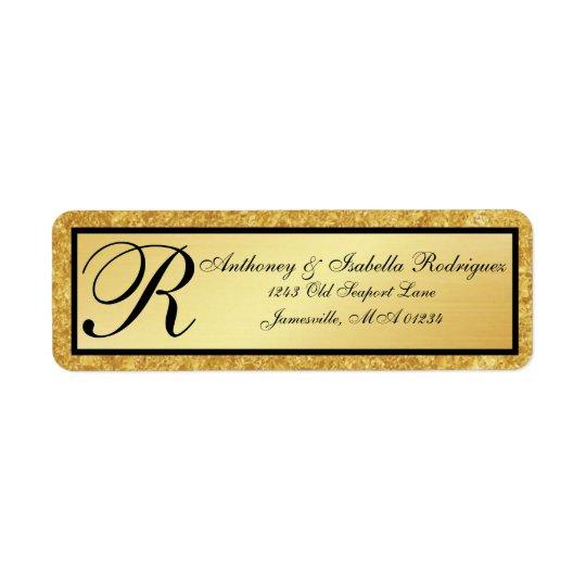 Etiquetas de endereço do remetente do brilho do etiqueta endereço de retorno