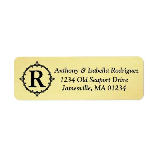 Etiquetas de endereço do remetente do ouro com