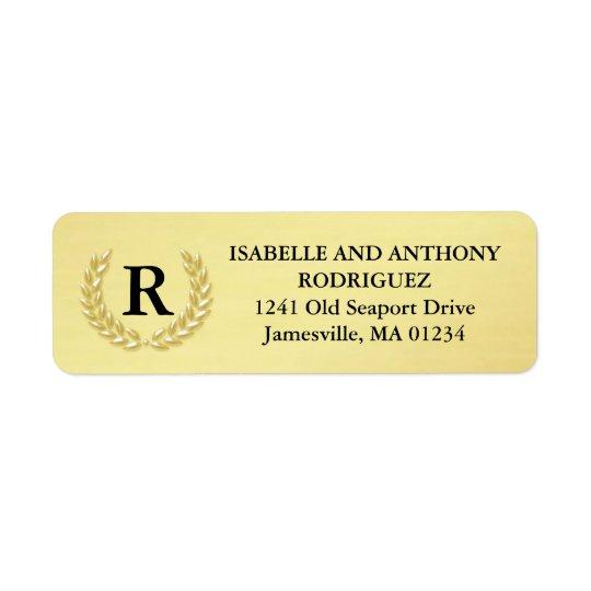 Etiquetas de endereço do remetente elegantes do etiqueta endereço de retorno