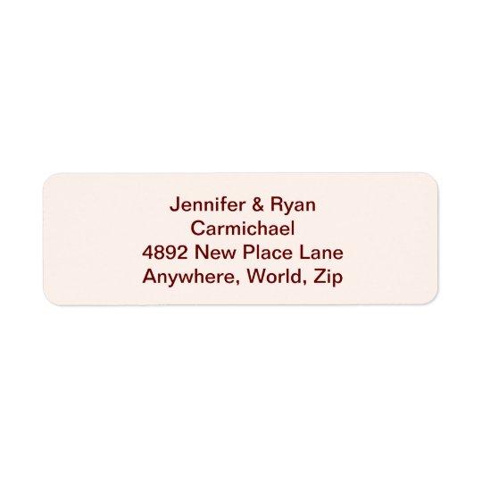 Etiquetas de endereço do remetente personalizadas
