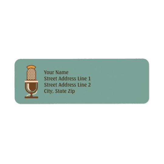 Etiquetas de endereço do remetente retros do etiqueta endereço de retorno