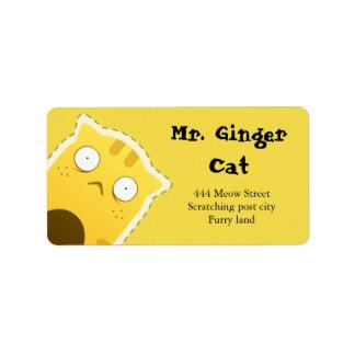 Etiquetas de endereço do Sr. Gengibre Gato Etiqueta De Endereço