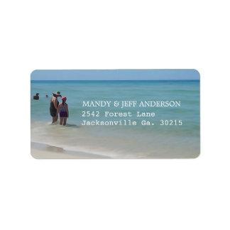 Etiquetas de endereço dos dias da praia