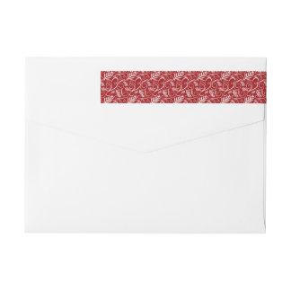 Etiquetas de endereço elegantes vermelhas do