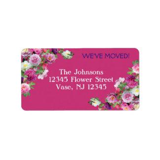 Etiquetas de endereço novas das flores bonitas