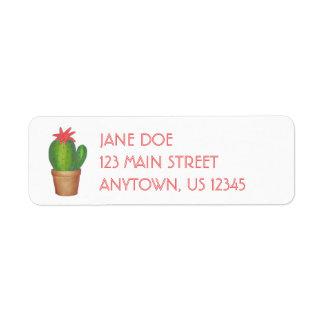 Etiquetas de endereço Potted da planta da flor