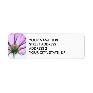 Etiquetas de endereço roxas bonito da flor