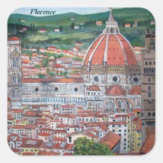 Etiquetas de Florença Adesivo Em Forma Quadrada