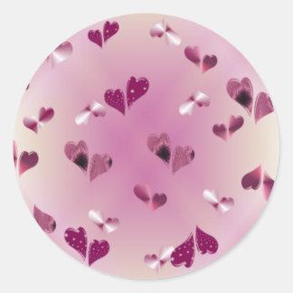 Etiquetas de flutuação dos corações adesivo