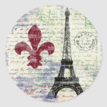 Etiquetas de France da torre Eiffel Adesivo