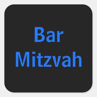 Etiquetas de Mitzvah do bar Adesivo Quadrado