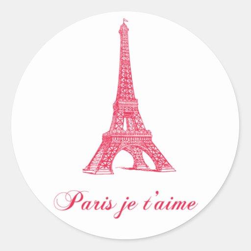 Etiquetas de Paris Adesivos Redondos