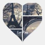 Etiquetas de Paris do amor Adesivos De Corações