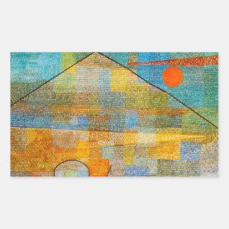 Etiquetas de Parnassum do anúncio de Paul Klee Adesivos Retangulares
