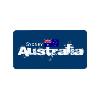 Etiquetas de Sydney, Austrália Etiqueta De Endereço