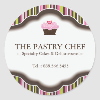 Etiquetas decorativas da padaria adesivos