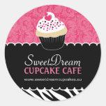 Etiquetas decorativas do frasco do cupcake do adesivo em formato redondo
