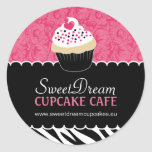 Etiquetas decorativas do frasco do cupcake do impr adesivo