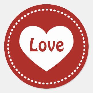 Etiquetas do amor do coração do dia dos namorados adesivo