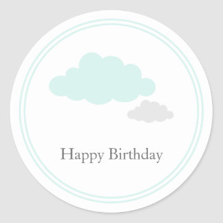 Etiquetas do aniversário da nuvem adesivo