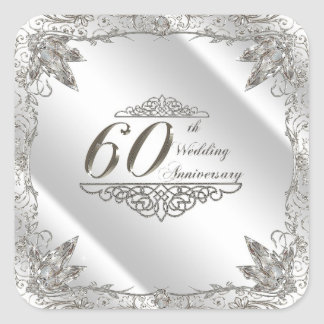 Etiquetas do aniversário de casamento do diamante