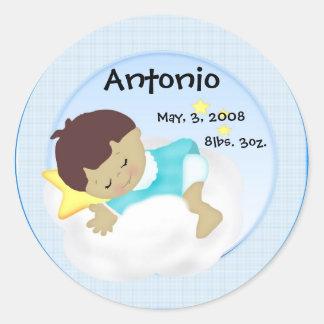 Etiquetas do anúncio do bebé adesivos redondos