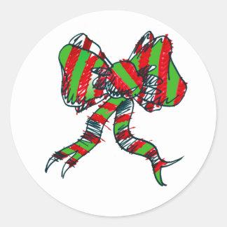 Etiquetas do arco do Natal Adesivo