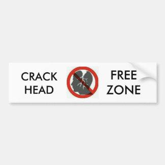 etiquetas do bumber da zona franca do crackhead adesivo para carro