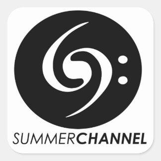 Etiquetas do canal do verão adesivo quadrado
