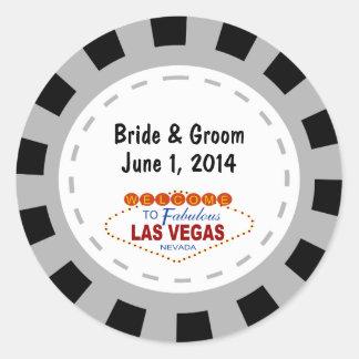 Etiquetas do casamento da microplaqueta de póquer