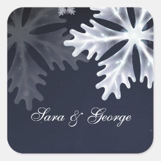 etiquetas do casamento no inverno dos flocos de
