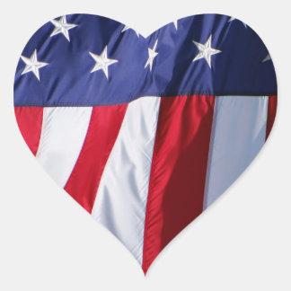 Etiquetas do coração da bandeira americana