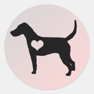 Etiquetas do coração do Foxhound americano Adesivo