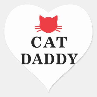 Etiquetas do coração do pai do gato