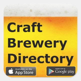 Etiquetas do diretório da cervejaria do artesanato