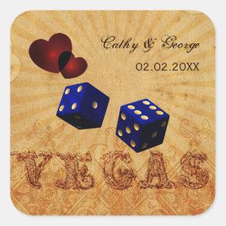 etiquetas do favor de Vegas do vintage dos dados