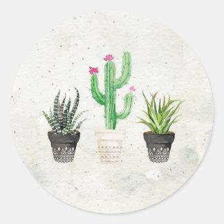 Etiquetas do favor do cacto do Succulent do