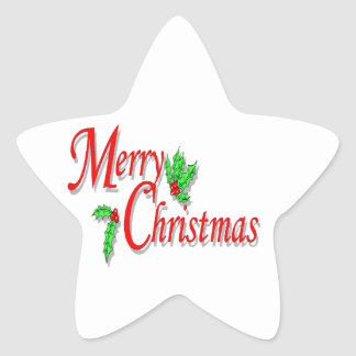 Etiquetas do Feliz Natal Adesito Estrela