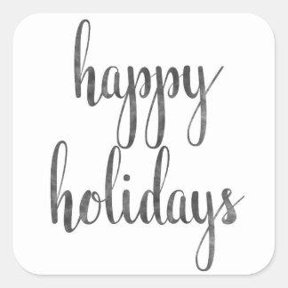 Etiquetas do feriado adesivo quadrado