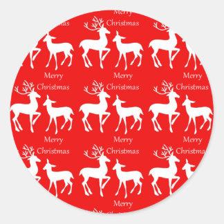 Etiquetas do feriado do Feliz Natal Adesivo