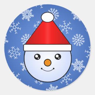 Etiquetas do feriado do miúdo da neve de Kawaii Adesivo