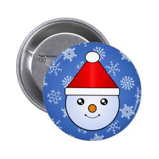 Etiquetas do feriado do miúdo da neve de Kawaii Bóton Redondo 5.08cm