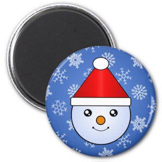 Etiquetas do feriado do miúdo da neve de Kawaii Ímã Redondo 5.08cm