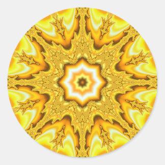 Etiquetas do Fractal da estrela do ouro