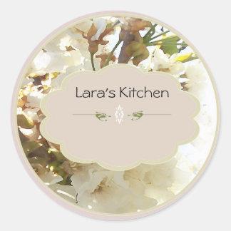 etiquetas do frasco da especiaria do whiteflower adesivo