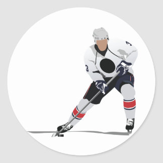 Etiquetas do jogador de hóquei em gelo