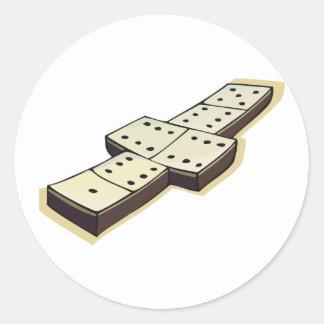 Etiquetas do jogo dos dominós adesivo